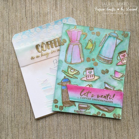 Watercolored Coffee Cards