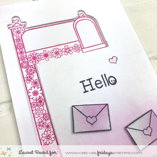 Laurel Beard Special Delivery MailBox Die Hello Handmade Card